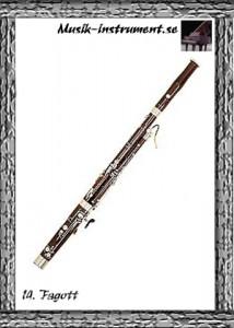Fagott, bild från Musik-instrument.se