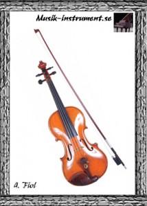 Fiol, bild från Musik-instrument.se