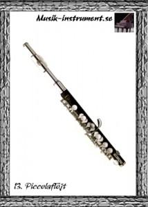Piccolaflöjt, bild från Musik-instrument.se