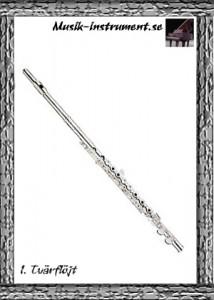 Flöjter - tvärflöjt, bild från Musik-instrument.se