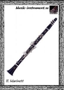 Klarinett - enkla rörblad, träblåsinstrument, bild från Musik-instrument.se