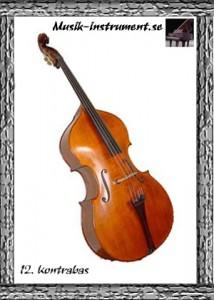 Kontrabas, bild från Musik-instrument.se