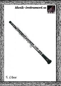 Oboe, dubbla rörblad, träblåsinstrument, bild från Musik-instrument.se