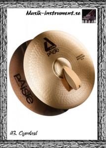 Idiofoner, cymbal, bild från Musik-instrument.se