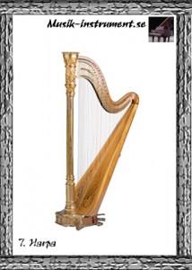 Harpa, bild från Musik-instrument.se