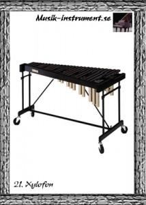 Stämda idiofoner, xylofon, bild från Musik-instrument.se